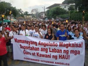 holy angel university strike