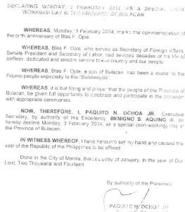 proclamation 709 blas ople day
