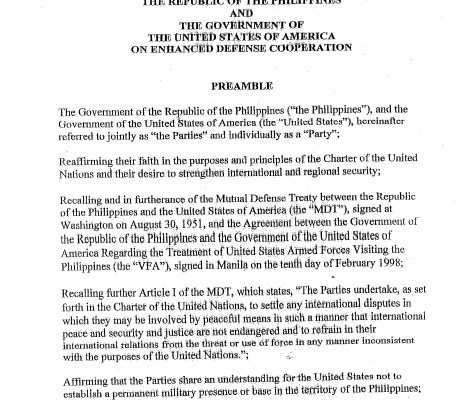 Enhanced Defense Cooperation Agreement