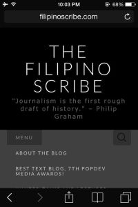 the filipino scribe mobile