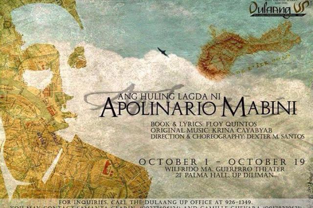"""Dulaang UP presents """"Ang Huling Lagda ni Apolinario Mabini"""""""