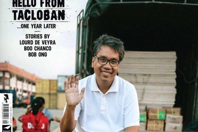 Mar Roxas in the cover of Esquire Philippines' 'Yolanda' anniversary edition