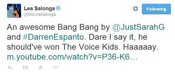 Lea Salonga says Darren Espanto should have won The Voice Kids title