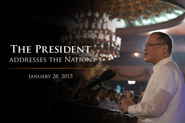 aquino speech re maguindanao encounter