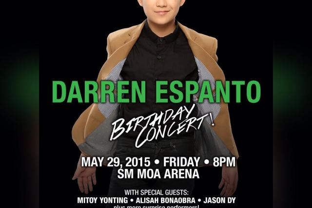 Darren Espanto set to become youngest person to have a concert in SM MoA Arena