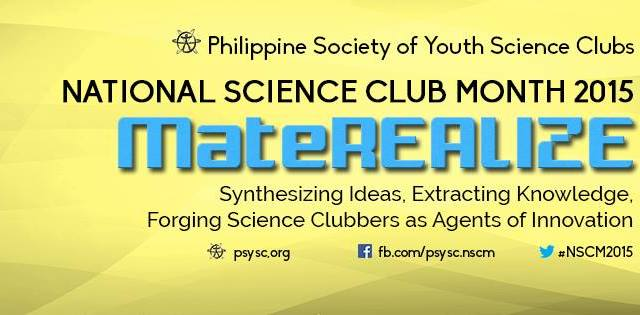 """National Science Club Month 2015 theme – """"MateREALIZE"""""""