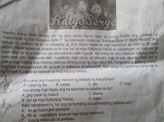 AlDub used in periodical test