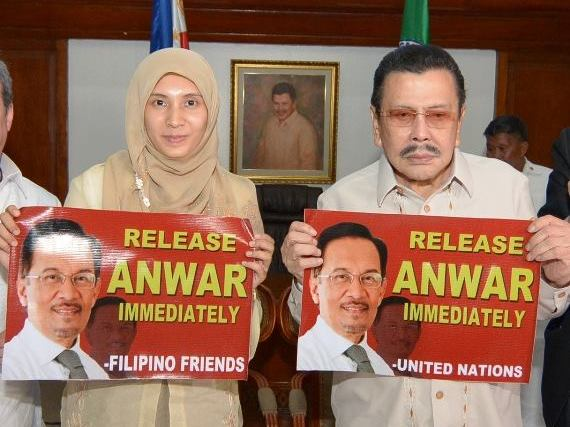 Estrada joins calls for Malaysian opposition leader Anwar Ibrahim's release