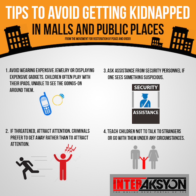 tips to avoid kidnapping