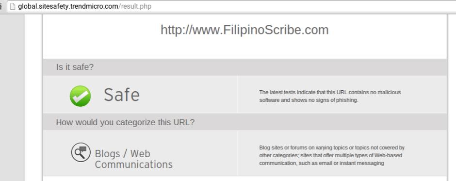 TrendMicro website check
