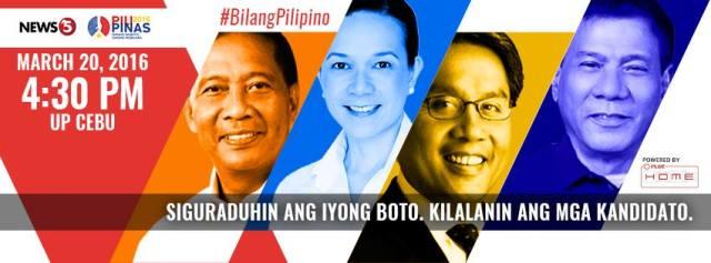 second philippine presidential debate 2016