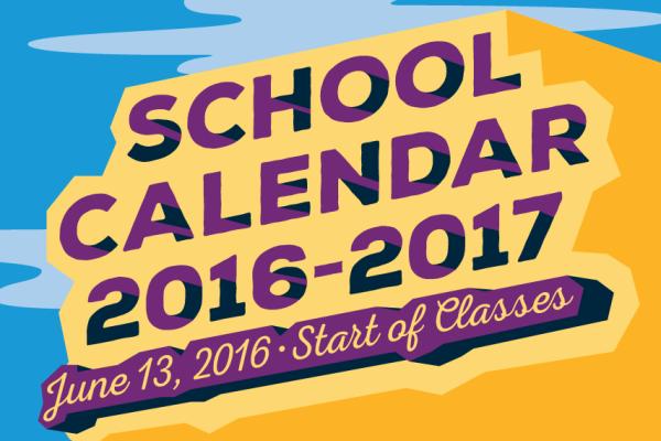 deped school calendar 2016-2017