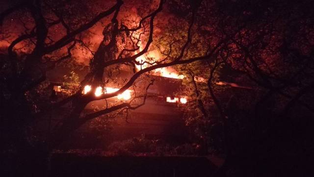 fire in UP Diliman Faculty Center