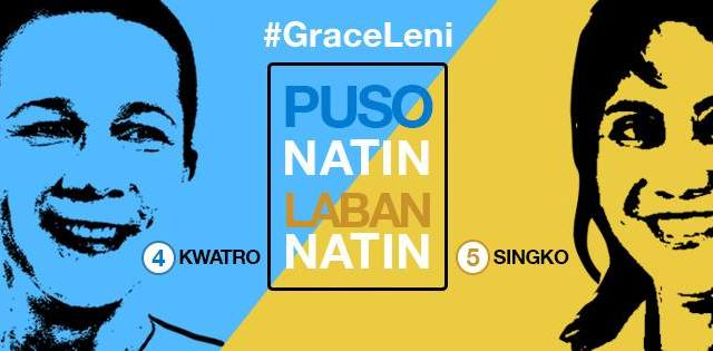 #GraceLeni | Groups push for Poe, Robredo tandem