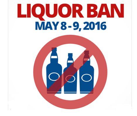 comelec liquor ban 2016 elections