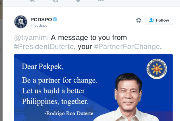 Twitter trolls hijack PCDSPO's #PartnerForChange campaign