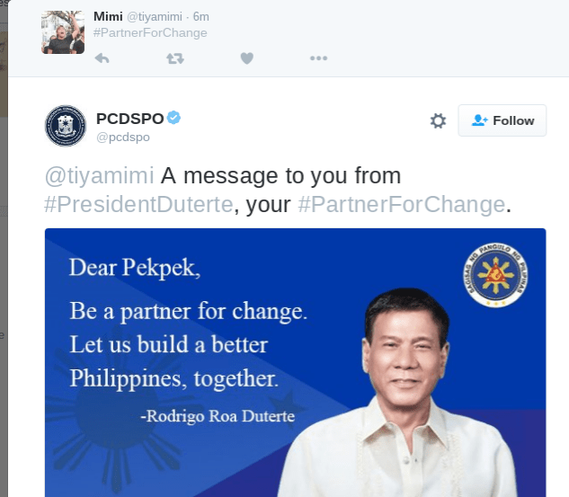 #PartnerForChange Rodrigo Duterte