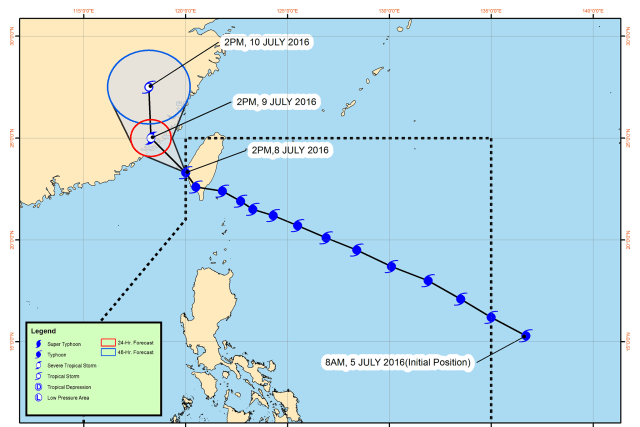 #WalangPasok – Class suspensions for July 9 2016 due to Typhoon Butchoy