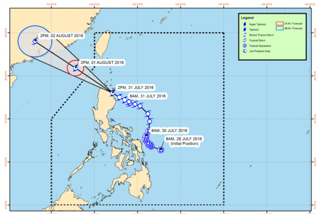 #WalangPasok – Class suspensions for August 1 2016 due to typhoon 'Carina'