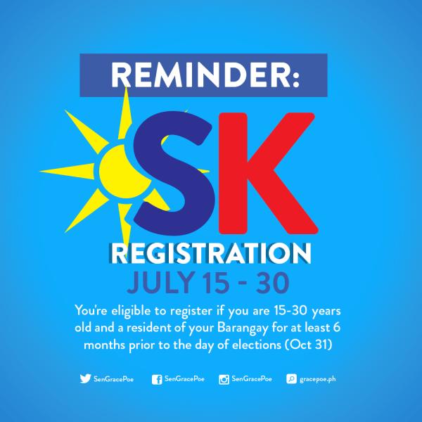 Voter registration for SK, barangay elections until July 30 only – COMELEC
