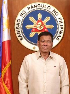 official photo of President Rodrigo Duterte