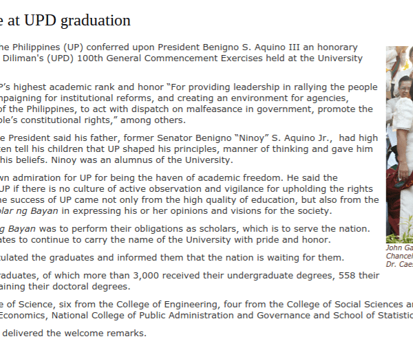 UP admin embarrasses itself over honorary degree for Duterte faux pas