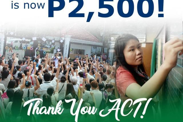 Public school teachers to get P2500 chalk allowance for SY 2017-2018