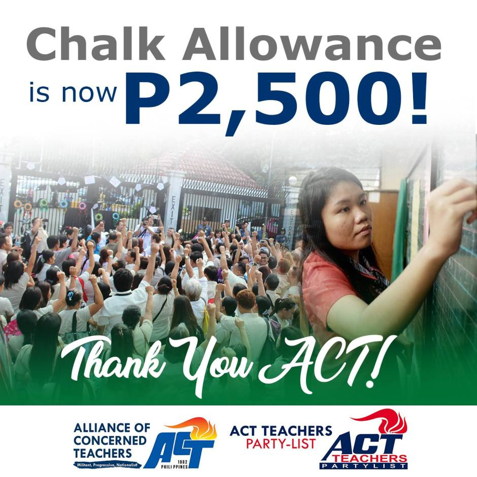 chalk allowance for 2017