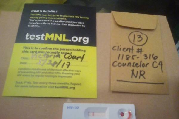 free HIV test in Metro Manila