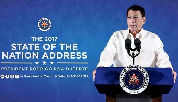 full text Duterte 2017 state of the nation address