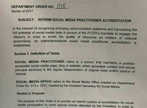 COMMENTARY – On giving press accreditation to social media practitioners