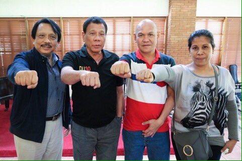 Duterte and Kian Delos Santos parents