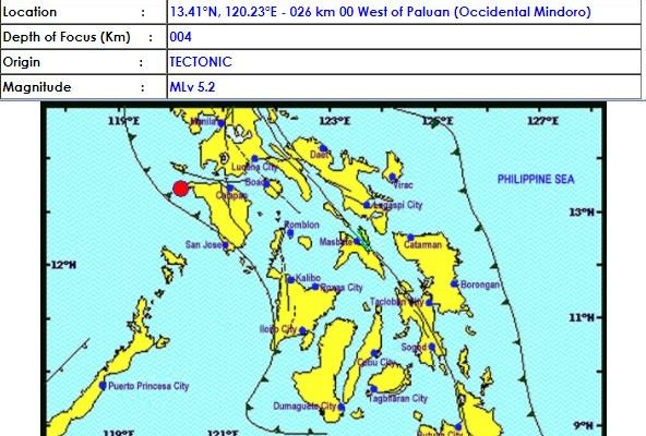 occidental mindoro earthquake 2018