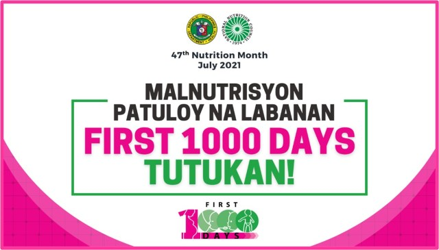 Nutrition month 2021 official theme
