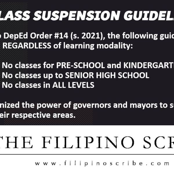 #WalangPasok – DepEd class suspension guidelines for the 'new normal'