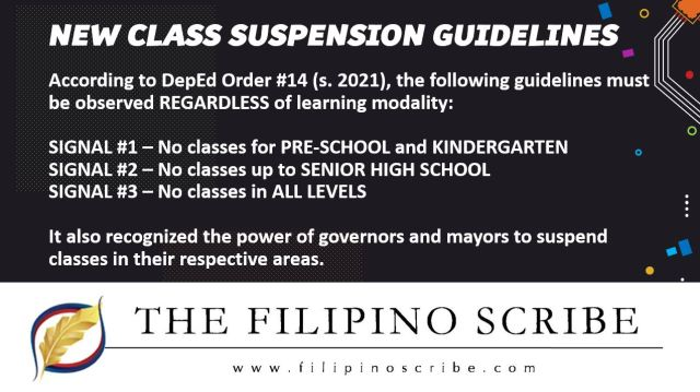 DepEd class suspension guidelines