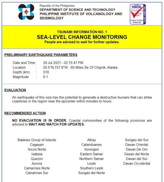 PHIVOLCS-tsunami-alert-Alaska-earthquake