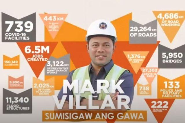 CREDIT GRABBING? – Mark Villar touts his work as DPWH secretary to boost his expected Senate bid