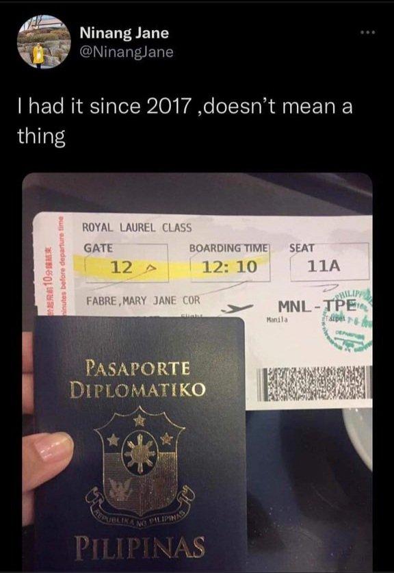 ninangjane BTS diplomatic passport