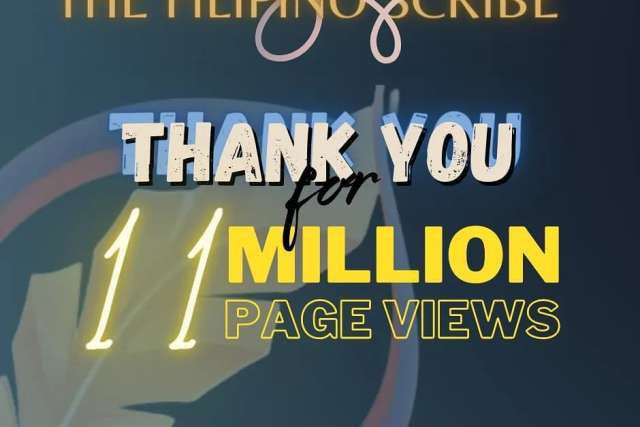 NEW MILESTONE: The Filipino Scribe reaches 11 million views on its tenth year