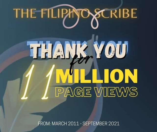 the filipino scribe 11 million page views
