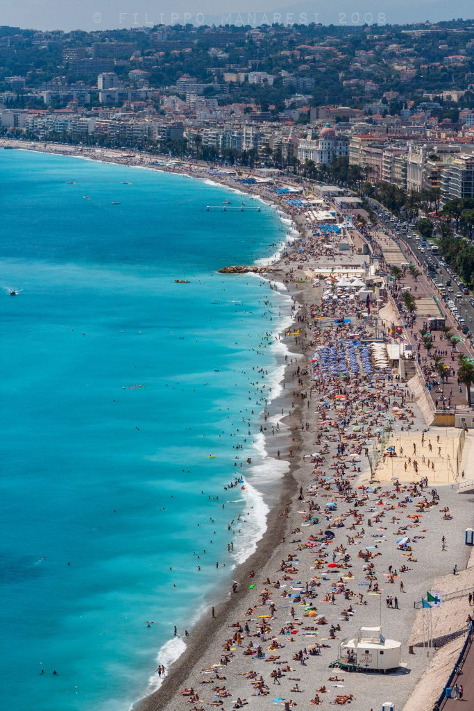 Nice, beach, France, Côte d'Azur, French Riviera, people, bathers