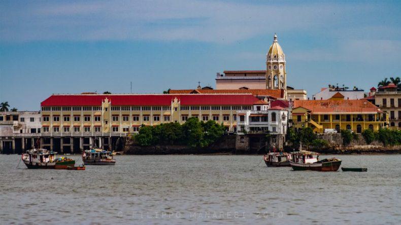 Casco Viejo, Casco Antiguo, San Felipe, Panama City, San Francisco Church, boats