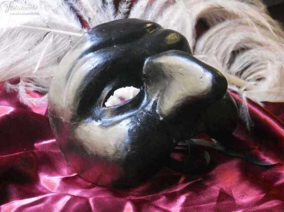 Maschera da Pulcinella in cartapesta. art MXCP014