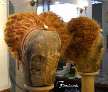 Parrucca stile 600 da donna colore biondoo art 600D