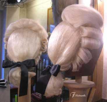 Parrucca bianca stile '700 da uomo art 700UBIA