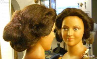 Parrucca in capelli naturali con acconciatura primi '900 art 900DCCH