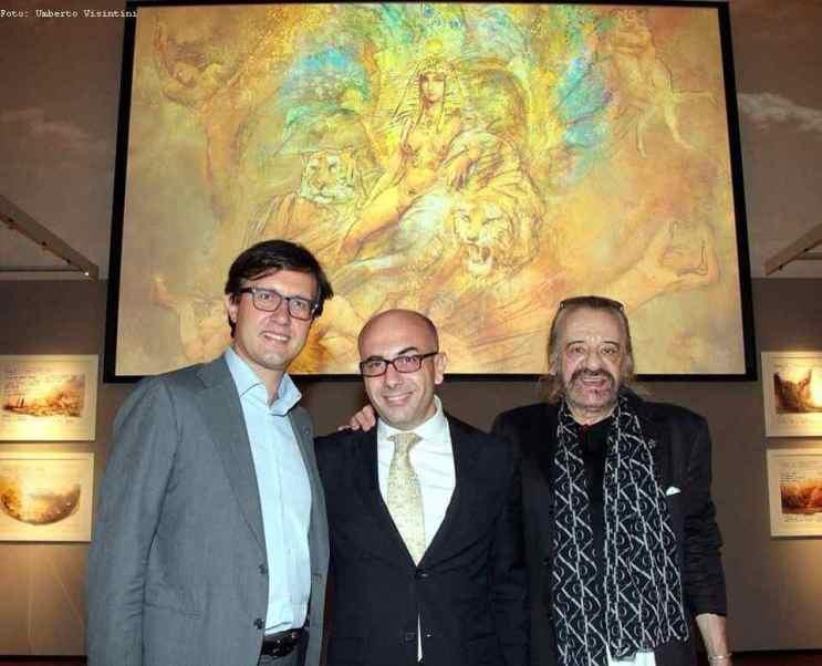 Il Sindaco Dario Nardella con Gherardo e Gabriele alla Fondazione Franco Zeffirelli