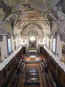 L'oratorio del ceppo visto dall'organo
