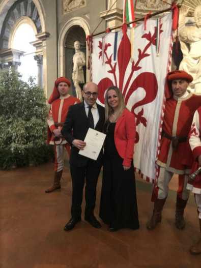 Gherardo e Cecilia Del Re durante la prima giornata attività storiche fiorentine